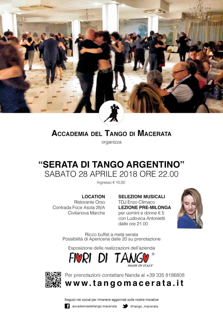 Serata di Tango Argentino Sabato 28 Aprile 2018